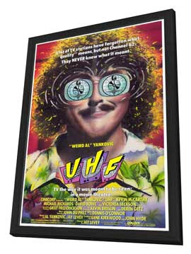 UHF - 27 x 40 Movie Poster - Style A - in Deluxe Wood Frame