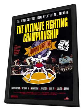 Ultimate Fighting Championships - 27 x 40 Movie Poster - Style A - in Deluxe Wood Frame