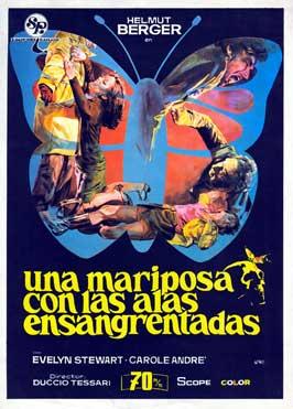 Una mariposa con las alas ensangrentadas - 27 x 40 Movie Poster - Spanish Style A