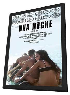 Una Noche - 11 x 17 Movie Poster - Style A - in Deluxe Wood Frame