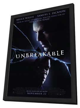 Unbreakable - 11 x 17 Movie Poster - Style A - in Deluxe Wood Frame