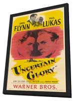 Uncertain Glory - 11 x 17 Movie Poster - Style A - in Deluxe Wood Frame
