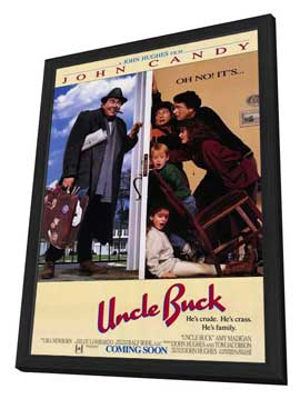 Uncle Buck - 11 x 17 Movie Poster - Style A - in Deluxe Wood Frame