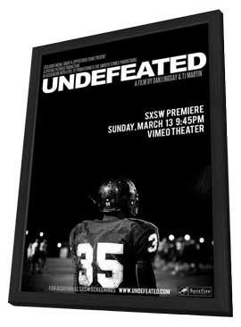 Undefeated - 11 x 17 Movie Poster - Style A - in Deluxe Wood Frame