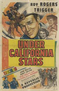 Under California Stars - 11 x 17 Movie Poster - Style A