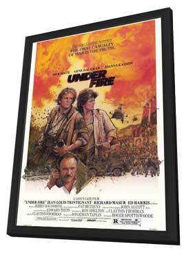 Under Fire - 11 x 17 Movie Poster - Style A - in Deluxe Wood Frame