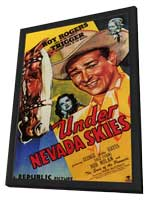 Under Nevada Skies - 27 x 40 Movie Poster - Style A - in Deluxe Wood Frame