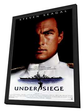 Under Siege - 27 x 40 Movie Poster - Style A - in Deluxe Wood Frame