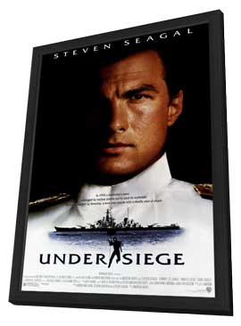 Under Siege - 11 x 17 Movie Poster - Style A - in Deluxe Wood Frame