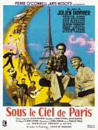Under the Paris Sky - 11 x 17 Movie Poster - French Style A