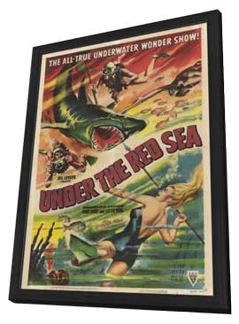 Under the Red Sea - 11 x 17 Movie Poster - Style A - in Deluxe Wood Frame