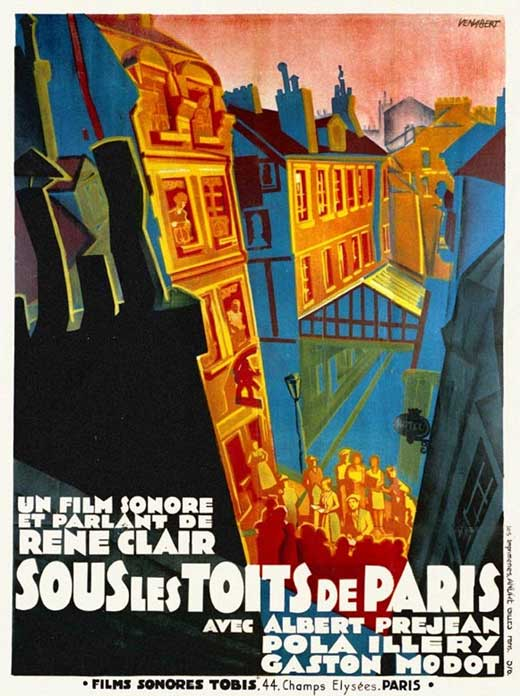under the roofs of paris movie posters from movie poster shop. Black Bedroom Furniture Sets. Home Design Ideas