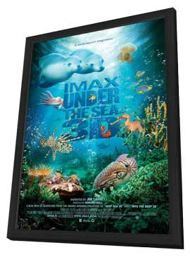 Under the Sea 3D - 11 x 17 Movie Poster - Style A - in Deluxe Wood Frame