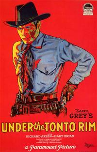 Under the Tonto Rim - 11 x 17 Movie Poster - Style A