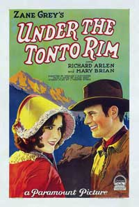 Under the Tonto Rim - 11 x 17 Movie Poster - Style B