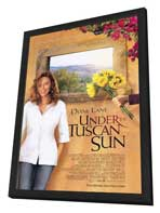 Under the Tuscan Sun - 27 x 40 Movie Poster - Style A - in Deluxe Wood Frame