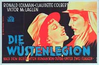 Under Two Flags - 11 x 17 Movie Poster - German Style A