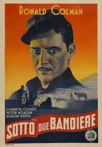 Under Two Flags - 11 x 17 Movie Poster - Italian Style A