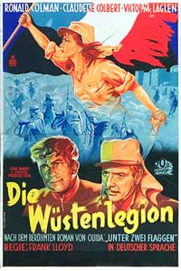 Under Two Flags - 11 x 17 Movie Poster - German Style B