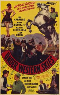 Under Western Skies - 11 x 17 Movie Poster - Style A