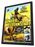 Under Western Stars - 27 x 40 Movie Poster - Style A - in Deluxe Wood Frame
