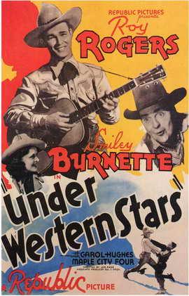 Under Western Stars - 11 x 17 Movie Poster - Style B