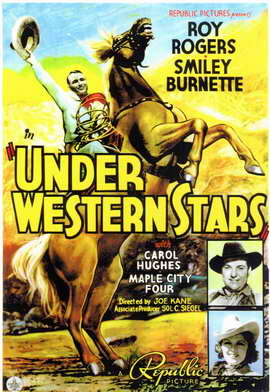 Under Western Stars - 11 x 17 Movie Poster - Style A