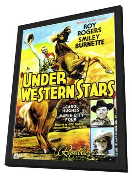 Under Western Stars - 11 x 17 Movie Poster - Style A - in Deluxe Wood Frame