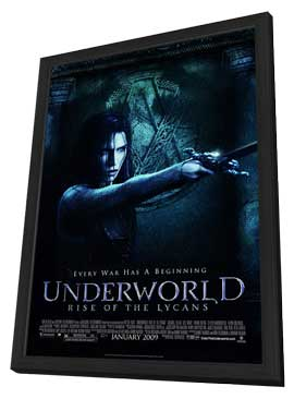 Underworld 3: Rise of the Lycans - 27 x 40 Movie Poster - Style B - in Deluxe Wood Frame