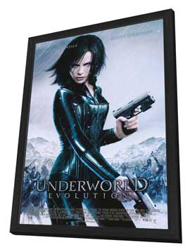 Underworld: Evolution - 11 x 17 Movie Poster - Style B - in Deluxe Wood Frame