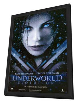 Underworld: Evolution - 27 x 40 Movie Poster - Style A - in Deluxe Wood Frame