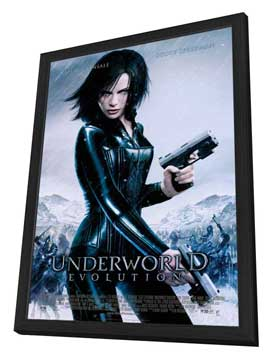 Underworld: Evolution - 27 x 40 Movie Poster - Style B - in Deluxe Wood Frame