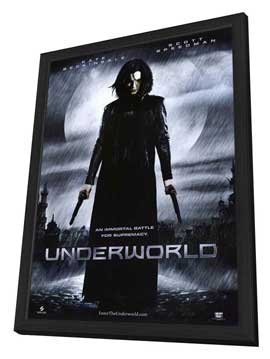 Underworld - 11 x 17 Movie Poster - Style B - in Deluxe Wood Frame