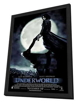 Underworld - 11 x 17 Movie Poster - Style C - in Deluxe Wood Frame