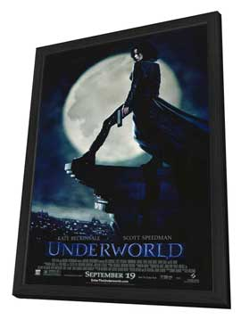 Underworld - 27 x 40 Movie Poster - Style A - in Deluxe Wood Frame