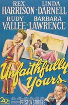 Unfaithfully Yours - 11 x 17 Movie Poster - Style C