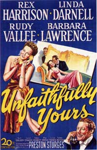 Unfaithfully Yours - 11 x 17 Movie Poster - Style A