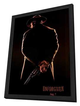 Unforgiven - 11 x 17 Movie Poster - Style D - in Deluxe Wood Frame