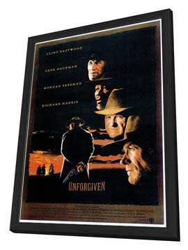 Unforgiven - 27 x 40 Movie Poster - Style A - in Deluxe Wood Frame