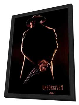 Unforgiven - 27 x 40 Movie Poster - Style B - in Deluxe Wood Frame