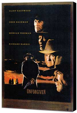 Unforgiven - 11 x 17 Movie Poster - Style C - Museum Wrapped Canvas
