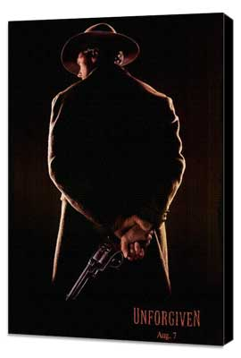 Unforgiven - 11 x 17 Movie Poster - Style D - Museum Wrapped Canvas