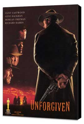 Unforgiven - 11 x 17 Movie Poster - Style G - Museum Wrapped Canvas