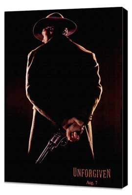 Unforgiven - 27 x 40 Movie Poster - Style B - Museum Wrapped Canvas