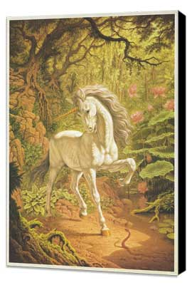 Unicorn - 27 x 40 Movie Poster - Style A - Museum Wrapped Canvas
