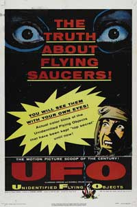 Unidentified Flying Objects: The True Story of Flying Saucers - 11 x 17 Movie Poster - Style B
