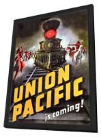 Union Pacific - 11 x 17 Movie Poster - Style A - in Deluxe Wood Frame