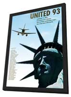 United 93 - 11 x 17 Movie Poster - Style C - in Deluxe Wood Frame