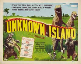 Unknown Island - 22 x 28 Movie Poster - Half Sheet Style A