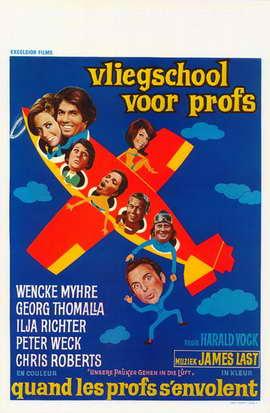 Unsere Pauker gehen in die Luft - 27 x 40 Movie Poster - Belgian Style A